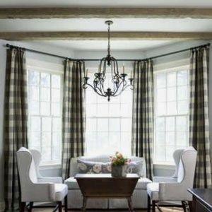 Buffalo plaid curtains